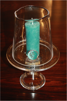Tine Glass Candle Holder