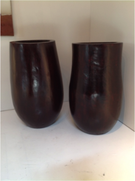 Palm Pot – Deep Brown