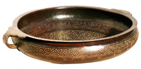 Brass Bidri Urli - Medium