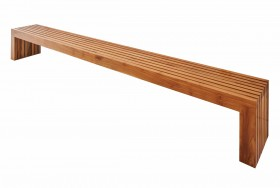 Teak slatted bench -extra large