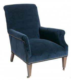 Charles Navy Velvet Lounge Chair