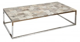 Petrified Wood Coffee Table - Rectangular