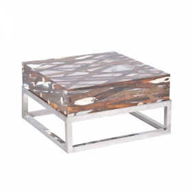 Kisimi Acrylic Driftwood Coffee Table