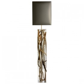 Kisimi Acrylic and Driftwood Floor Lamp