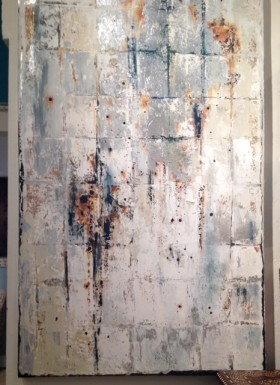 Silver Abstract I (2014) - Oil Painting