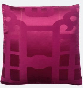 Magenta Silk Lantern Decorative Pillow