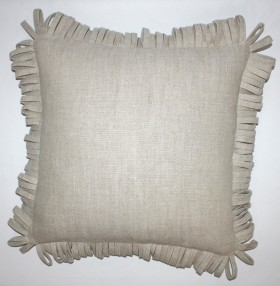 "Rita Accent Pillow with Fringe - 20"" SQ"