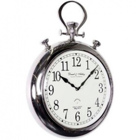 Pocket Watch Wall Clock - Nickel