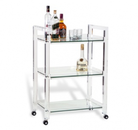 Ava Bar Cart - Lucite