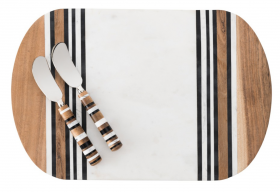 Stonewood Stripe Serving Board and Spreader