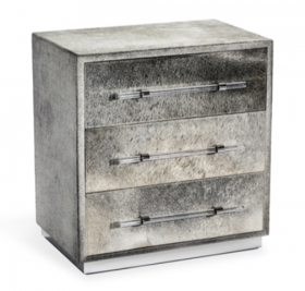 Grey Hide Chest of Drawers