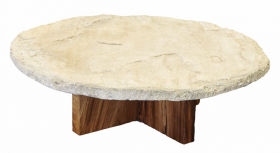 Sandstone round coffee table