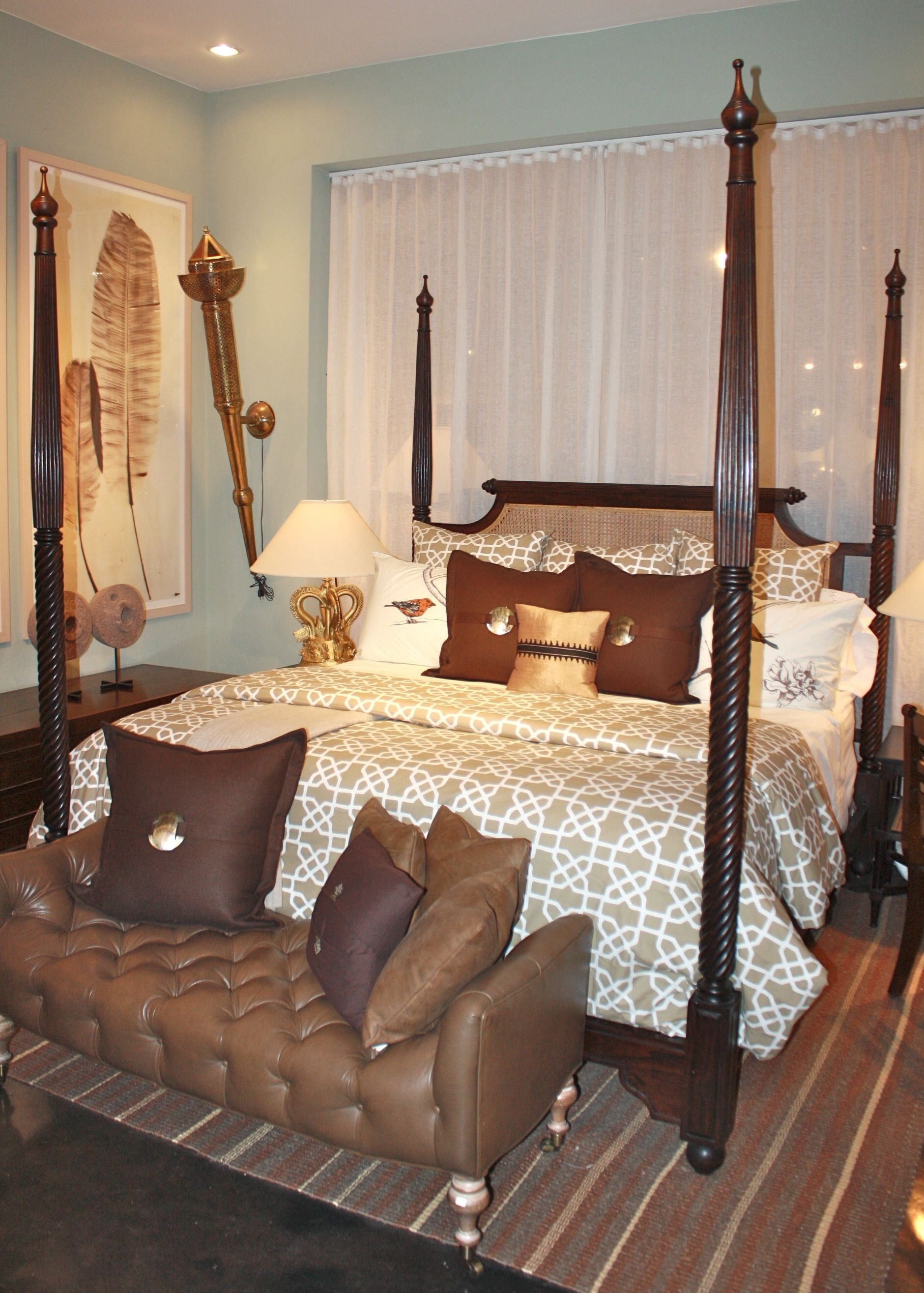 Mother Of Pearl >> British Colonial 4 Poster Bed - King Size - Indian Bed