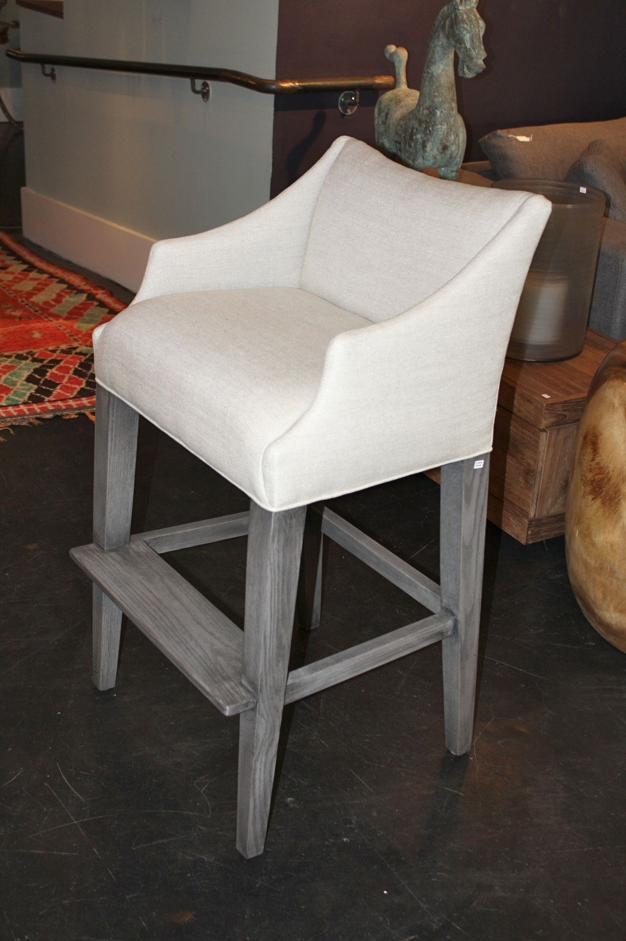 Mother Of Pearl >> Campaign Counter Stool - Bar Stool - Fine Furniture ...